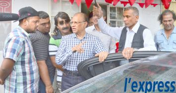 Navin Ramgoolam à l'issue de son point de presse à Port-Louis le jeudi 15 janvier.