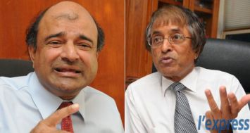 L'ancien Chairman du Trust Fund for Specialised Medical Care, Siv Potayya (à dr.) affirme que Vijaya Sumputh a été nommé à la tête de l'institution par Anil Gayan.