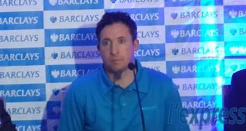 Robbie Fowler lors d'un point de presse au Head Office de la Barclays ce vendredi 8 mai.