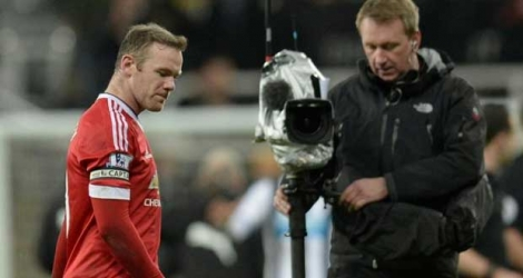 L'attaquant de Manchester United Wayne Rooney à l'issue du match nul à Newcastle, le 12 janvier 2016.