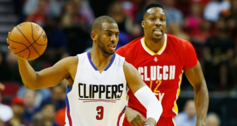 Chris Paul lors du match des Los Angeles Clippers face au Rockets, le 16 mars 2016 à Houston.