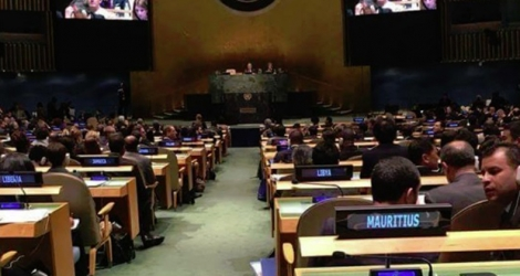 (Photo: Nudhar Bundhoo) La session extraordinaire de l'assemblée générale des Nations unies sur la drogue, à New York a eu lieu du 17 au 21 avril.