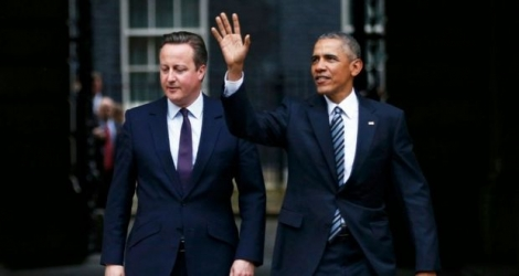 Barack Obama et David Cameron, à Londres le 22 avril 2016