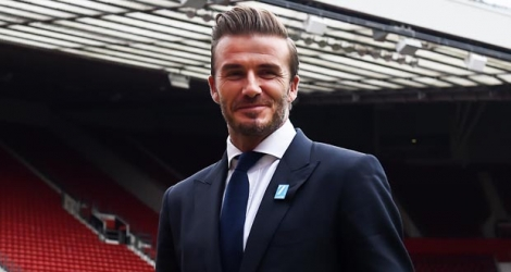 L'ancienne star du football britannique David Beckham.