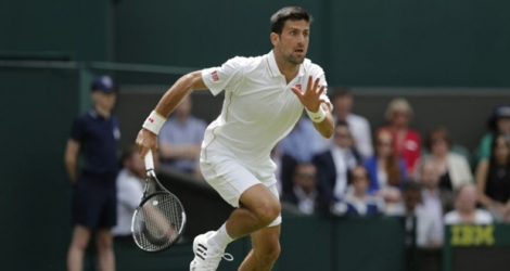 Novak Djokovic face au Britannique James Ward au premier tour du tournoi de Wimbledon.