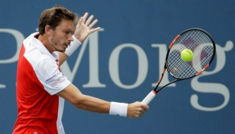 Nicolas Mahut face à Paul-Henri Mathieu à l'US Open, le 1er septembre 2016 à New York
