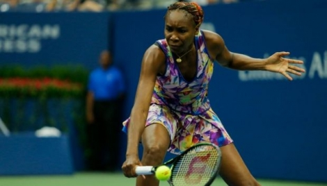 Venus Williams face à l'Allemande Julia Görges à l'US Open, le 1er septembre 2016