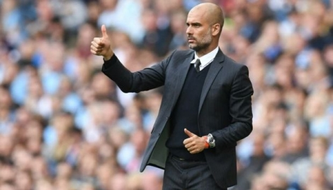 Pep Guardiola, le 17 septembre 2016 à Manchester lors du match City - Bournemouth