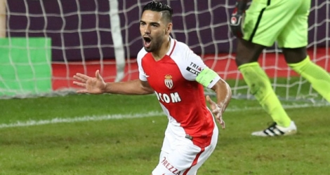 L'attaquant colombien de Monaco Radamel Falcao après un but contre Nancy, le 5 novembre 2016 au Stade Louis-II.