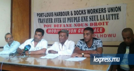 La Port Louis Harbour and Docks Workers Union était face à la presse, ce mercredi 9 novembre, au centre social Marie Reine de la Paix.