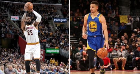 LeBron James (Cleveland) et Stephen Curry (Golden State).