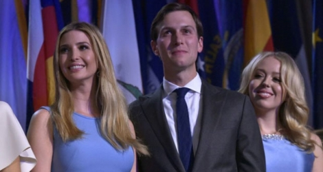 Ivanka Trump, Jared Kushner et Tiffany Trump le 9 novembre 2016 à New York.