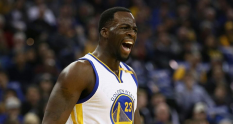 Draymond Green, l'intérieur des Golden State Warriors, lors d'un match NBA contre Dallas à Oakland, le 30 décembre 2016 .