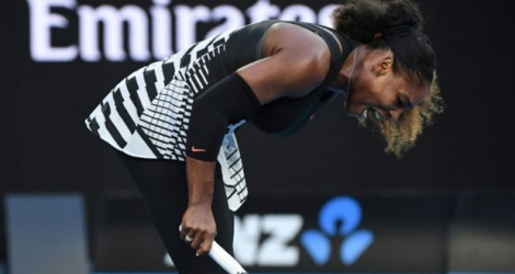 Serena Williams, le 28 janvier 2017 à l'Open d'Australie.