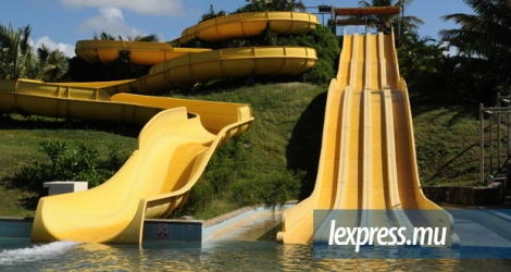 L'une des attractions du Waterpark de Belle-Mare.