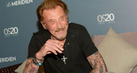 Johnny Hallyday le 29 avril 2016 à Noumea