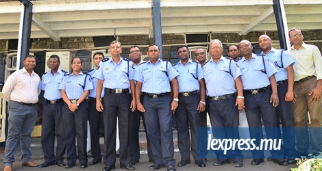 Les membres de la Police Research and Development Unit.