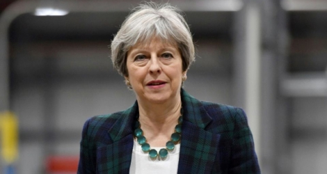 Theresa May le 27 avril 2017 à Chesterfield .