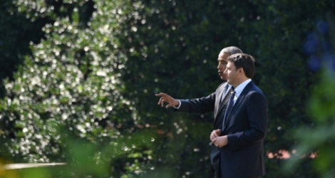 Barack Obama et Matteo Renzi (d), le 18 octobre 2016 à Washington.