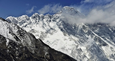 L'Everest, le 20 avril 2015 à Tembuche, au Népal