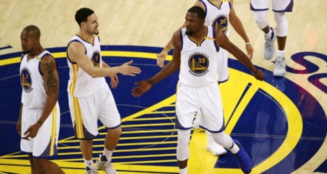 Les Golden State Warriors inarrêtables face à Cleveland, lors du match 2 des play-offs NBA, le 4 juin 2017 à Oakland