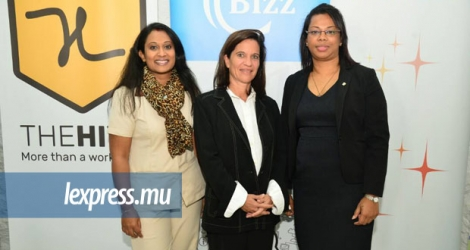 Hanisha Seeboo-Durbarry, Project Manager du CYEA, Nadine Adam, fondatrice et Manager d'Influence et Asha Auckloo, JCI Mauritius National President 2017.