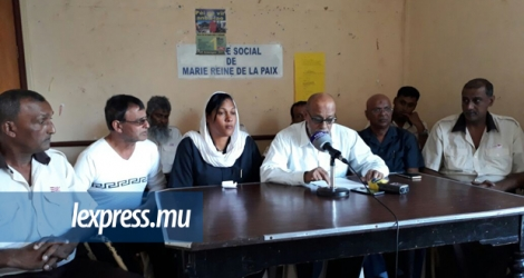 L'United Bus Service Employees Union était face à la presse le 3 juillet à Port-Louis.