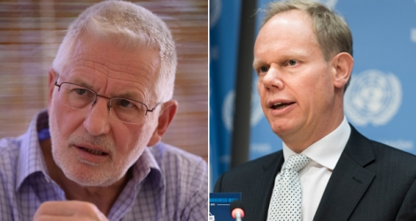 David Snoxell(Left) , Coordinator of the Chagos Islands All-Party Parliamentary Group and Mathew Rycroft (Right) , the UK's Permanent Representative to the United Nations.