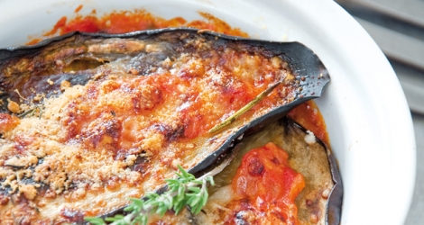 Aubergines parmigiana © Recette : Interfel Photo : © Philippe DUFOUR/Interfel