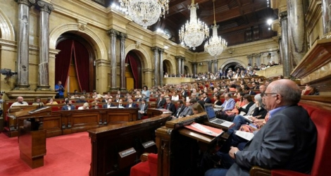 Le parlement catalan, le 6 septembre 2017 à Barcelone.