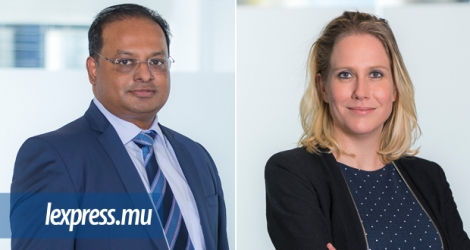 Deven Coopoosamy, Partner, Relations clients, et Nadia de Chazal, responsable du French desk chez Rogers Capital.