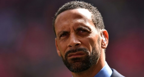 L'ancien défenseur international anglais Rio Ferdinand, le 23 avril 2017 à Wembley.