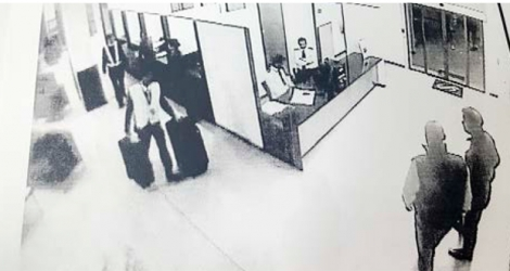 There were two suitcases on the CCTV footage.