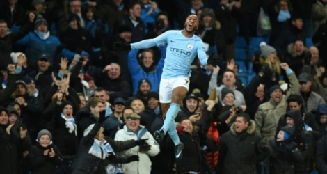 Le but de la victoire au bout du temps additionnel: Raheem Sterling marque pour Manchester City face à Southampton.