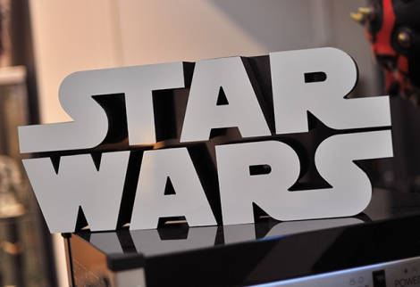 A Star Wars logo sign
