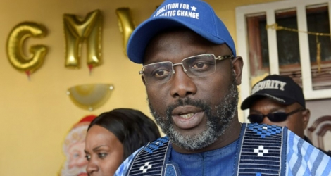 George Weah, president of Liberia
