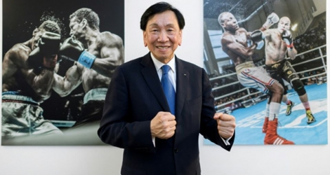L'ex-président de l'Association internationale de boxe amateur (AIBA), le Taïwanais Ching-Kuo Wu, à la Maison du Sport International à Lausanne, le 2 août 2017