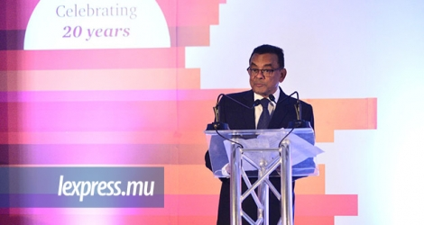 Ivan Collendavelloo lors PwC's Corporate Reporting Awards Night, au Hennessy Park Hotel, ce jeudi 1er mars.