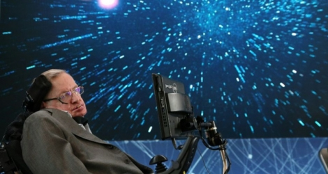 L'astrophysicien britannique Stephen Hawking, le 12 avril 2016 à New York.