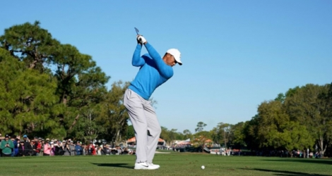 Tiger Woods lors du tournoi de golf de Palm Harbor, en Floride, le 9 mars 2018