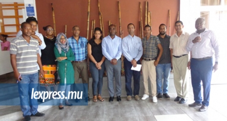 Photo de groupe à la fin de la formation des journalistes de Rodrigues, le 21 mars, à Port-Mathurin.