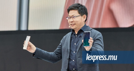 Richard YU at the launch of the P20 series yesterday in Paris.