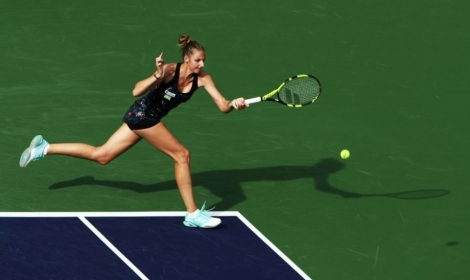 Kristyna Pliskova lors du tournoi d'Indian Wells, en Californie