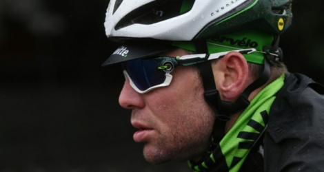 Le Britannique Mark Cavendish (Dimension Data) lors de la 109e édition de Milan-San Remo, le 17 mars 2018 à Pavie.