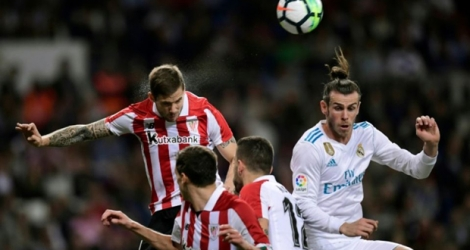 Le Real Madrid face à l'Athletic Bilbao, le 18 avril 2018, à Madrid.