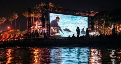 Projection du film «Le Grand Bleu» à Cannes, le 11 mai 2018.