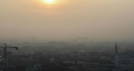 La ville de Lyon touchée par un épisode de pollution de l'air.