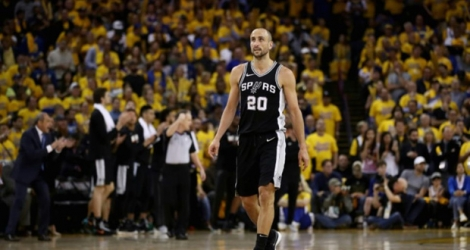 Manu Ginobili des San Antonio Spurs lors du match face aux Golden State Warriors le 24 avril 2018.