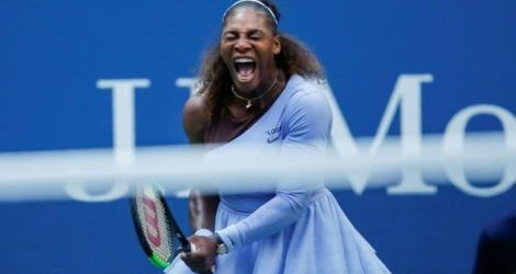 Serena Williams qualifiée pour les quarts de finale de l'US Open le 2 septembre 2018.