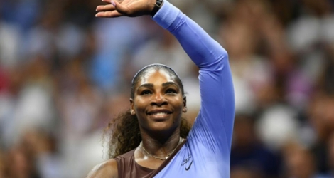 L'Américaine Serena Williams, lors de la demi-finale de l'US Open contre Anastasija Sevastova, le 6 septembre 2018 à New York